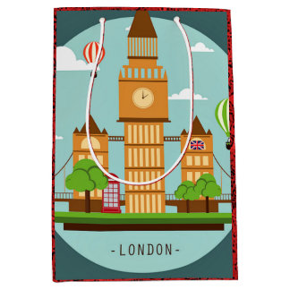 London, England clipart Medium Gift Bag