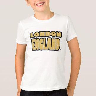 London England Gold-Worded Kids T-Shirt