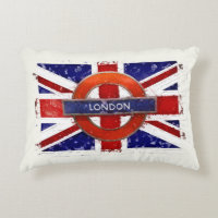 London, England, Great Britain, Union Jack, Flagge. Accent Pillows