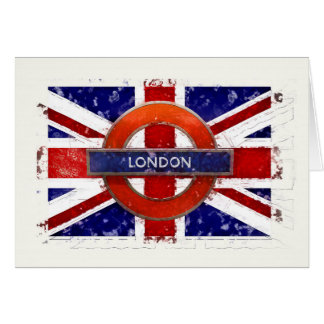 London, England, Great Britain, Union Jack, Flagge Card