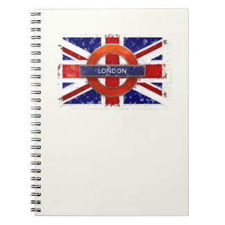 London, England, Great Britain, Union Jack, Flagge Spiral Notebook