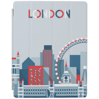 London, England | Red, White and Blue Skyline iPad Cover
