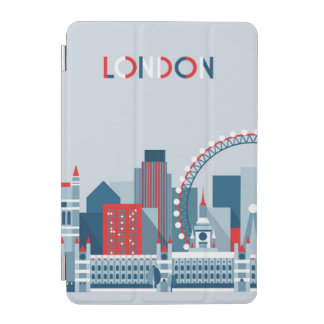London, England | Red, White and Blue Skyline iPad Mini Cover