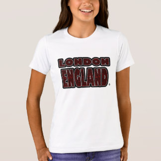 London England Red-Worded Kids T-Shirt