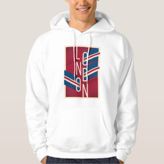 London, England | Retro Illustrated Typography Hoodie
