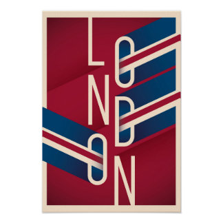 London, England | Retro Illustrated Typography Poster