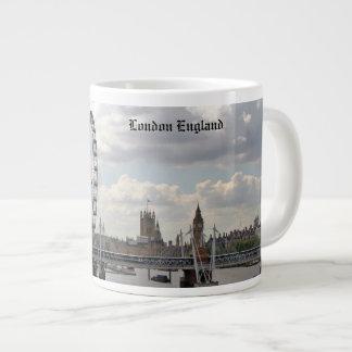 London England Skyline, Big Ben, London Eye,Thames Large Coffee Mug