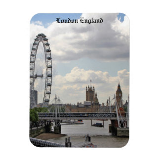 London England Skyline, Big Ben, London Eye,Thames Magnet