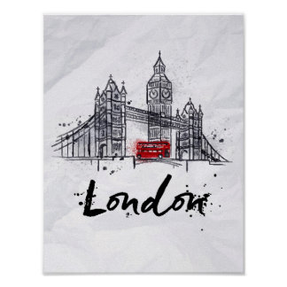 London, England | Splashy Artwork Poster