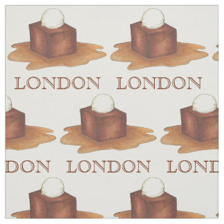 London England Sticky Toffee Pudding UK Foodie Fabric