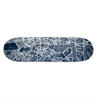 London England Street Map Art Skate Decks