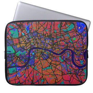 London England Street Map Laptop Sleeve