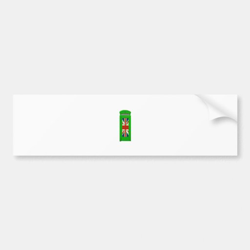 London England telephone box Green Bumper Stickers