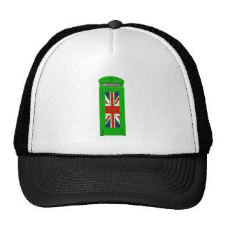 London England telephone box Green Trucker Hat