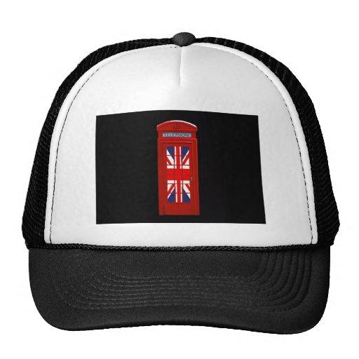London England telephone box Mesh Hat