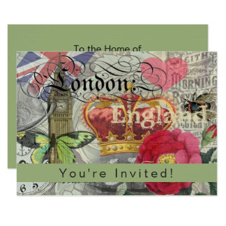 London England Template Travel Collage Art