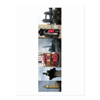 London England tourist sights Postcard