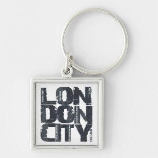 London, England Typography Keychain
