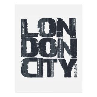London, England Typography Postcard