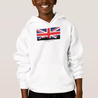London England UK Skyline British Flag