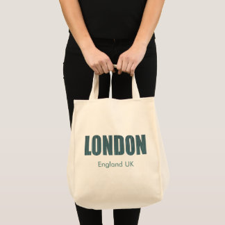 London, England UK (typography) Tote Bag