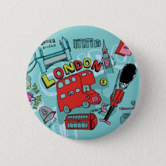 London ~ England United Kingdom Travel Art 2 Inch Round Button