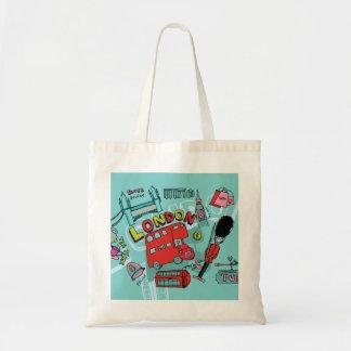 London ~ England United Kingdom Travel Art Tote Bag