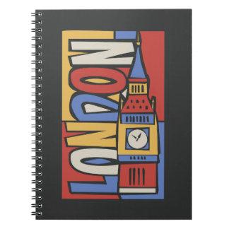 London, England | Vibrant Handrawn Design Notebook