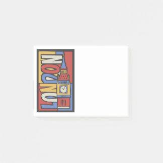 London, England   Vibrant Handrawn Design Post-it Notes