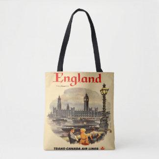 London England Vintage Style Tote Bag Big Ben
