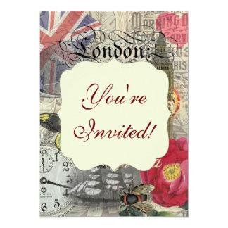London England Vintage Travel Collage Card