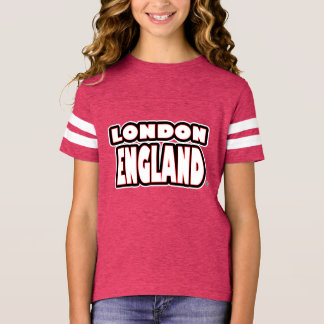London England White Worded Kids T-Shirt