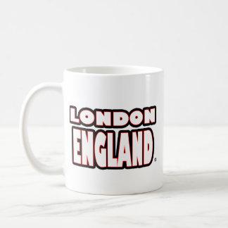 London England White-Words Mug
