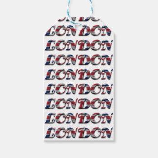London English Flag Colors England Typography Gift Tags