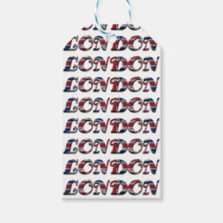London English Flag Colors England Typography Pack Of Gift Tags