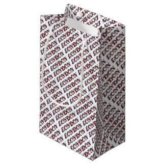 London English Flag Colors England Typography Small Gift Bag