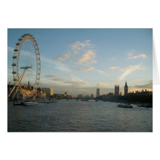 London Eye and Parliament Card