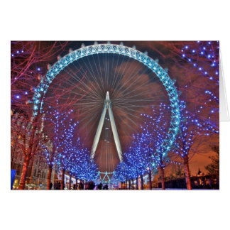 London Eye at night Card