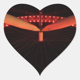 London Eye at Night Heart Sticker