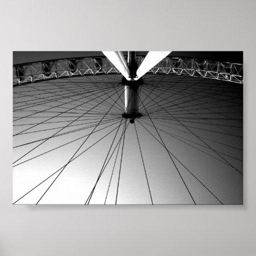 London Eye Black and white Poster