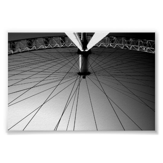 London Eye Black and white Poster