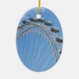 London eye ferris wheel ceramic oval ornament
