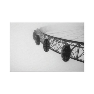 London Eye in Thick Fog Canvas Print