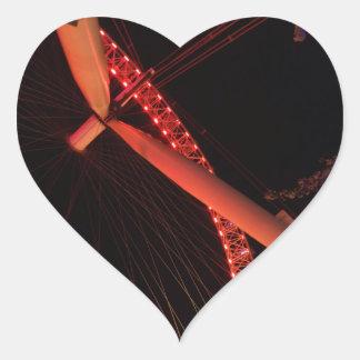 London Eye Night View Heart Sticker