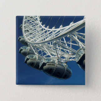 London Eye on Thames 2 Inch Square Button