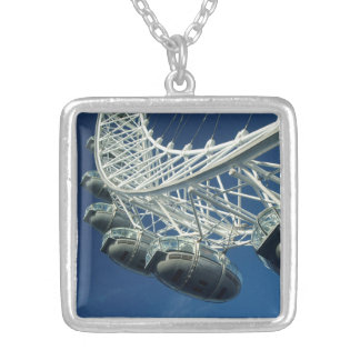 London Eye on Thames Silver Plated Necklace