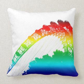 London Eye Rainbow Throw Pillow