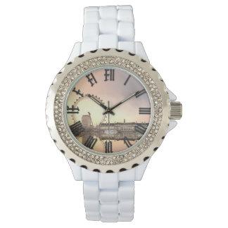 london eye rhinestone watch