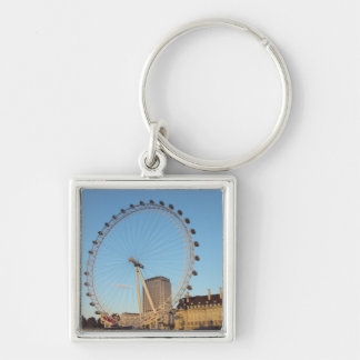 London Eye Silver-Colored Square Keychain