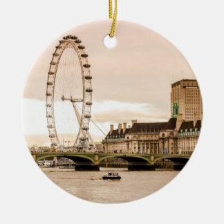London Eye Sunset Ceramic Ornament